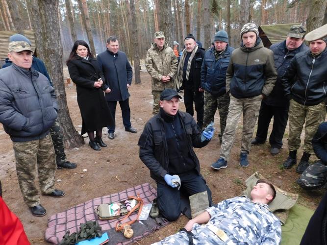У Рожищі для юнаків провели заняття з тактичної підготовки. ФОТО