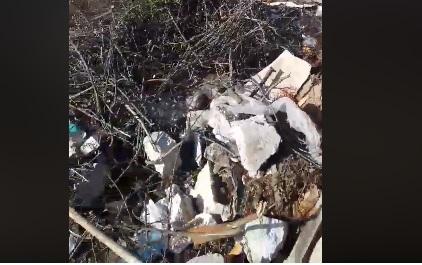 Поблизу Луцька викинули сміття у заплаву річки. ВІДЕО