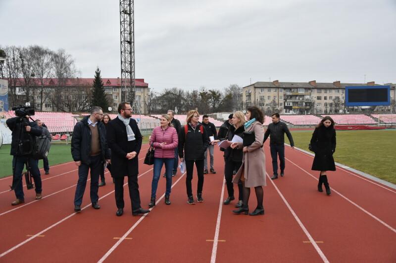 До Луцька завітали представники Європейської легкоатлетичної асоціації. ФОТО