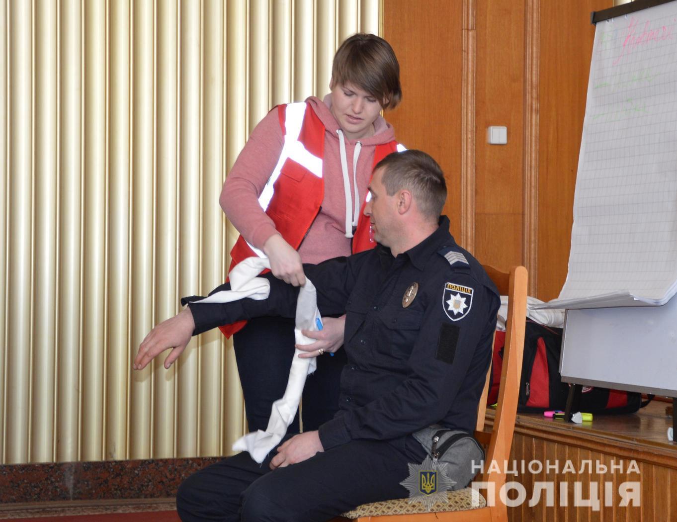 Волинських поліцейських навчали рятувати життя. ФОТО
