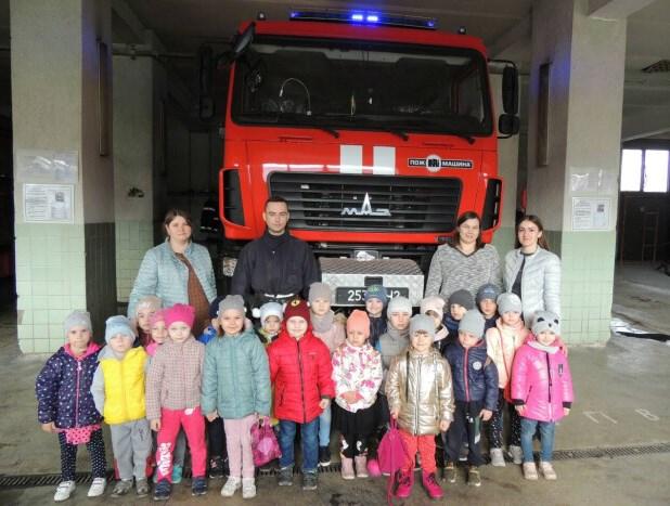Маленьких лучан навчали правил пожежної безпеки