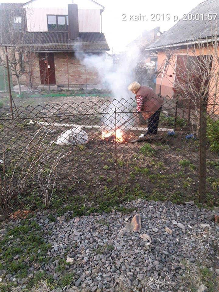 Лучанці загрожує штраф за спалювання сухого гілля