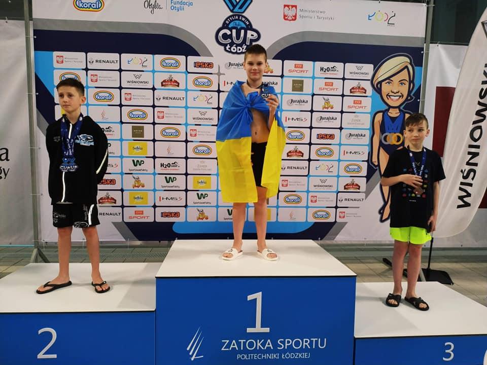 Юний плавець з Луцька став переможцем на змаганнях у Польщі. ФОТО