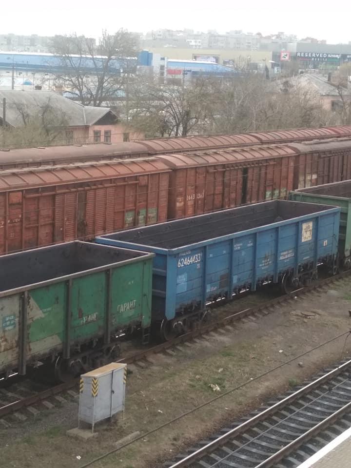 У Луцьку знову зафіксували російські вагони. ФОТО