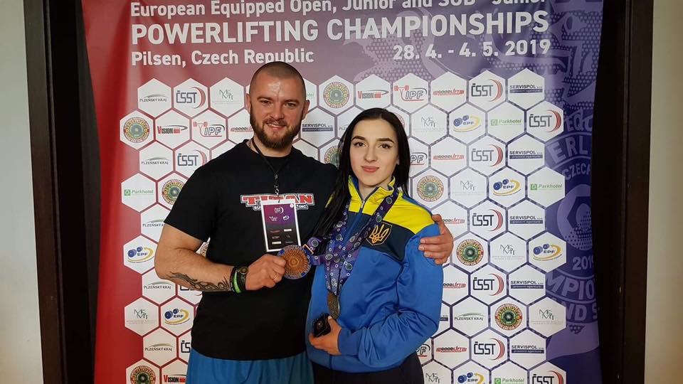 Лучанка здобула бронзу на чемпіонаті Європи з пауерліфтингу