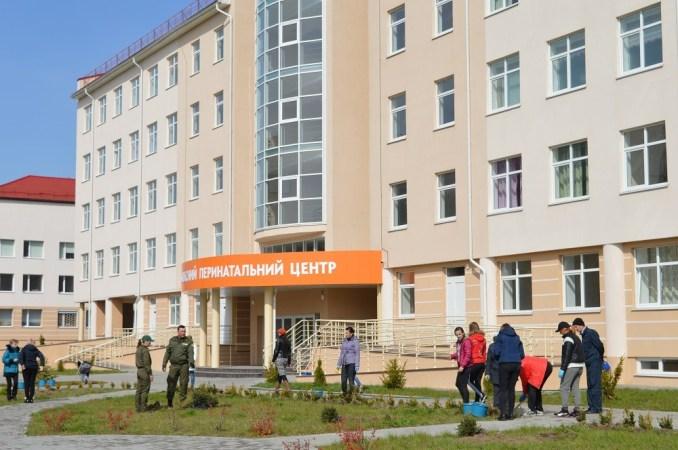 Лісівники та медики озеленили територію Волинського перинатального центру