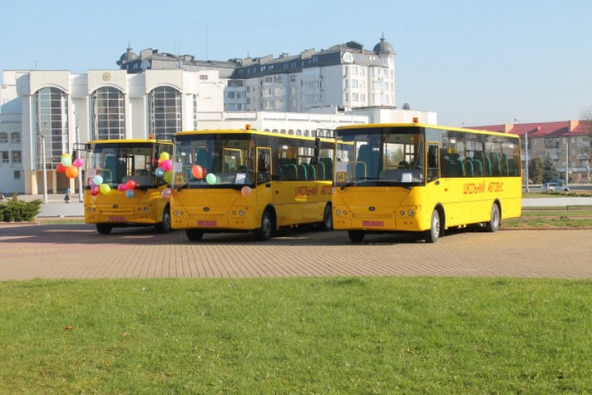 Волинь отримала більше 18 мільйонів гривень на шкільні автобуси