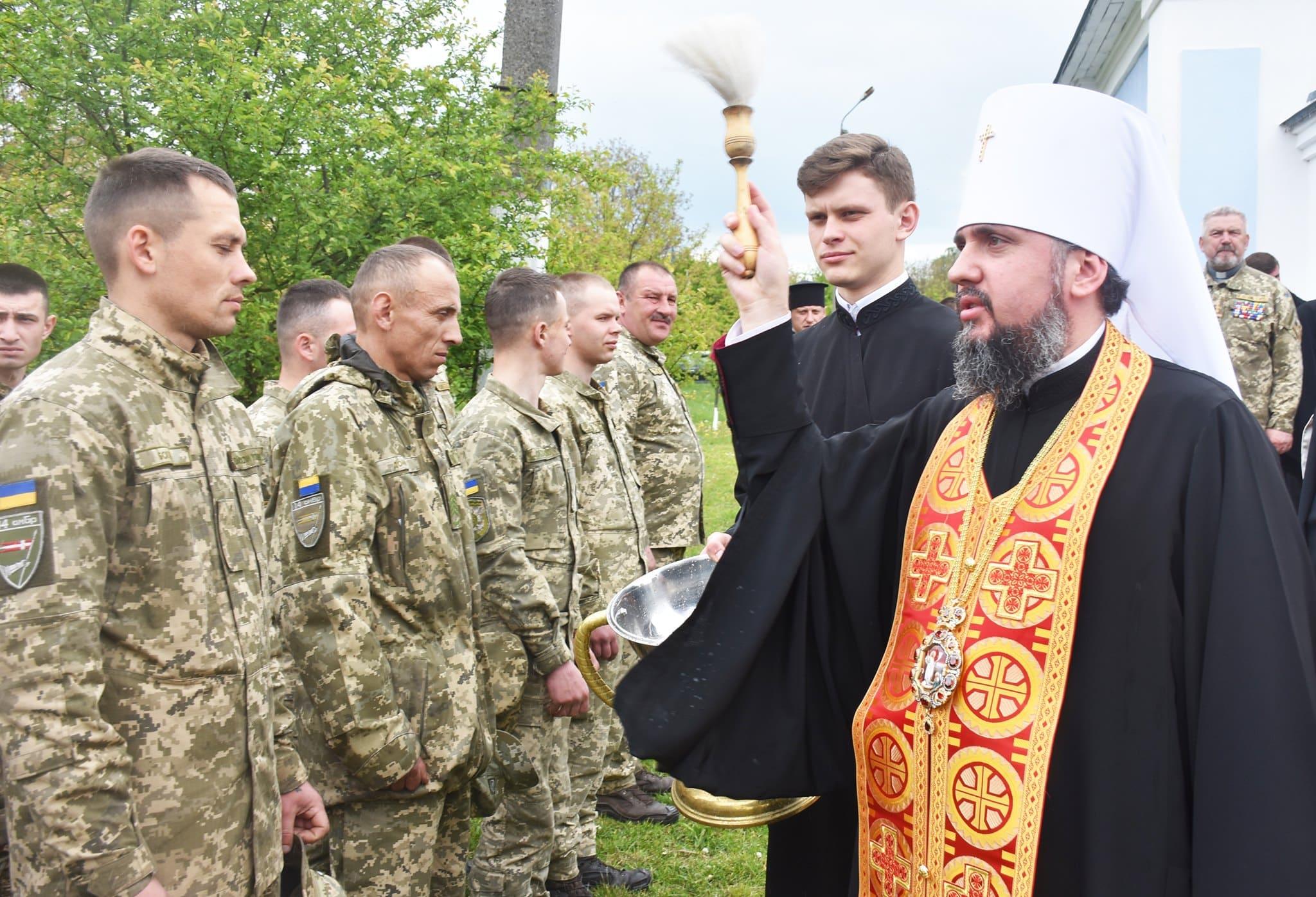 Митрополит Епіфаній освятив каплицю 14 окремої механізованої бригади. ФОТО