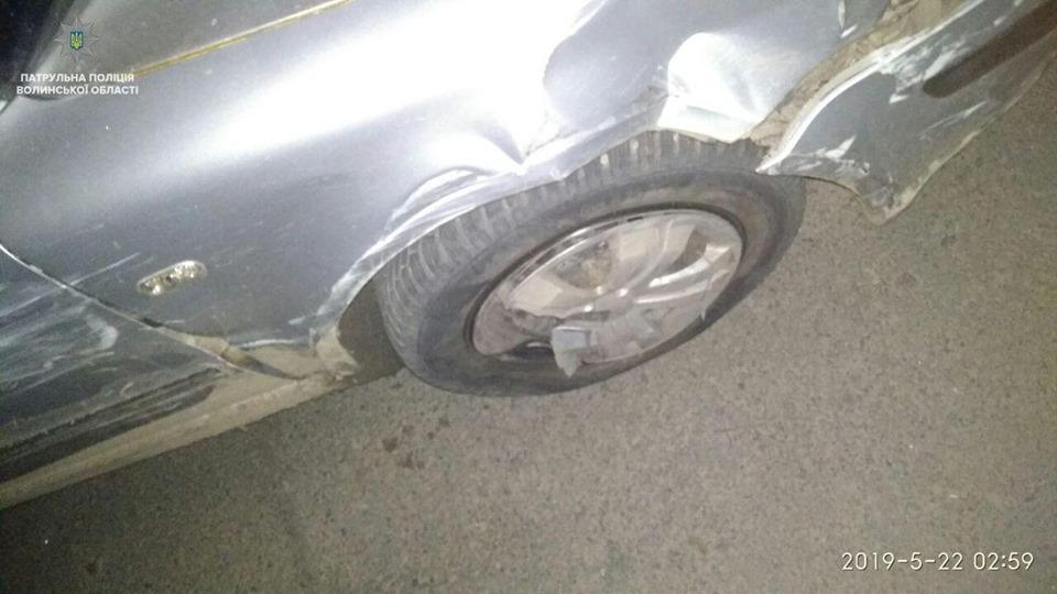 У Луцьку затримали п'яного водія, який намагався втекти. ВІДЕО