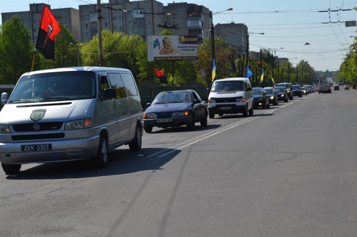 На Волині провели автопробіг до 76-ої річниці Колківської республіки. ФОТО