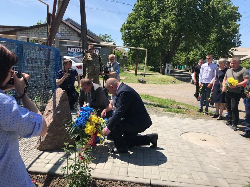 Лучани вшанували пам'ять полеглих військових 51-ї ОМБр у Волновасі. ФОТО