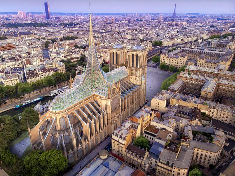 Архітектори представили екологічний проект реконструкції даху Собору Паризької Богоматері