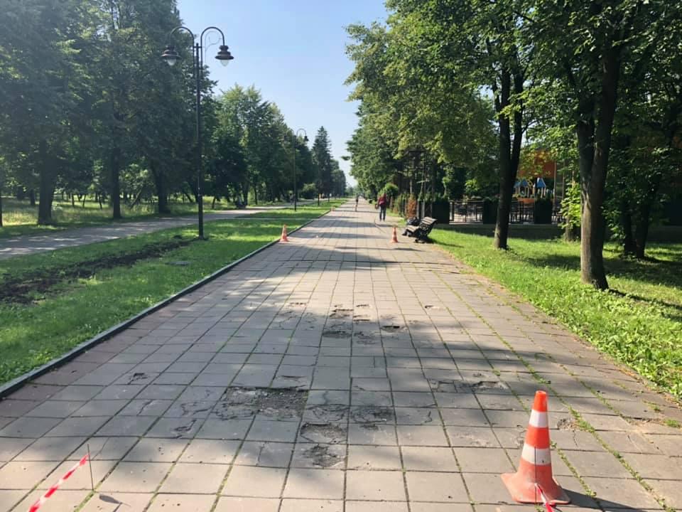 У Луцьку розпочався ремонт центральної алеї парку
