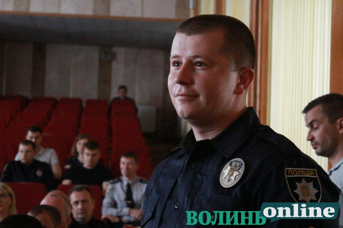 Представили нового очільника патрульної поліції Волині