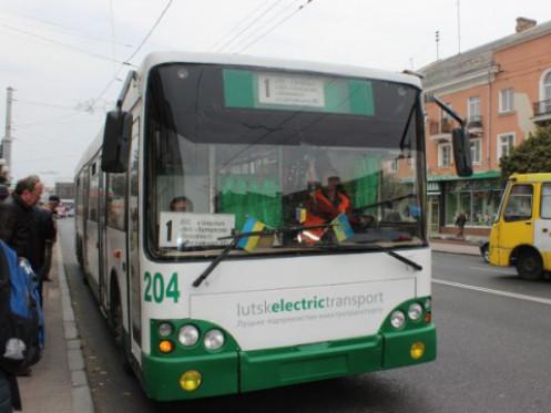 У Луцьку змінили схему руху тролейбусів № 1 та № 2