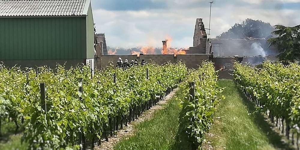 У Франції пожежа знищила 250 тисяч літрів коньяку