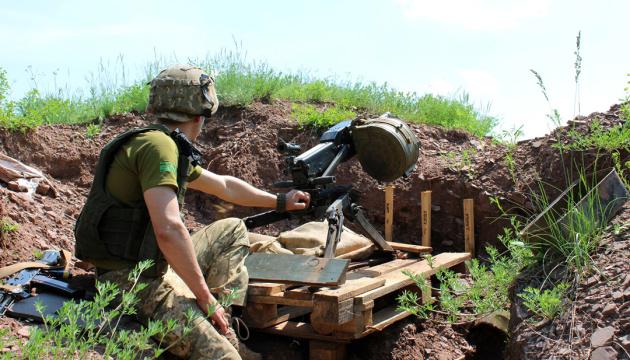 Окупанти випустили по позиціях ЗСУ понад 100 снарядів, один боєць травмований