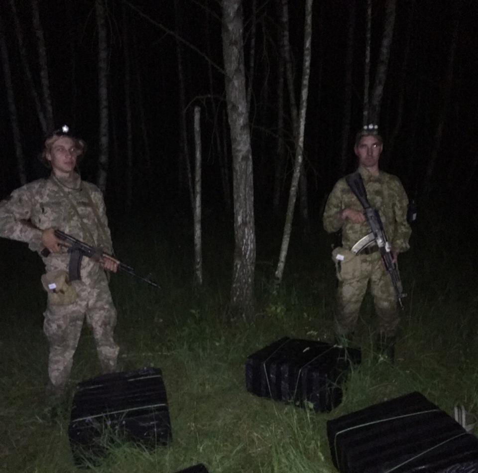 На Волині на кордоні знайшли покинуті сім пакунків із сигаретами