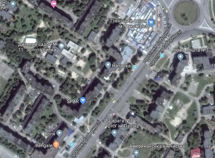 «Північний ринок імені Пукомачо» та «шарага № 4»: на електронній мапі Луцька з'явилися дивні назви