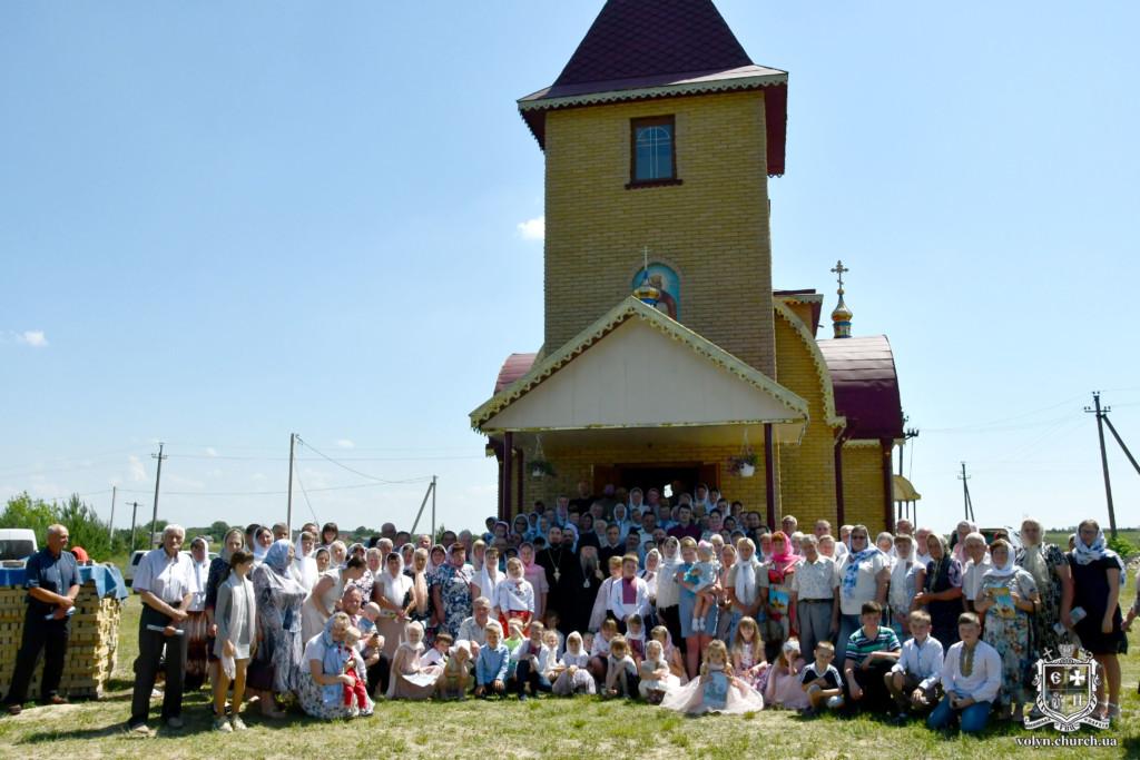 На Волині освятили новозбудований храм Московського Патріархату. ФОТО
