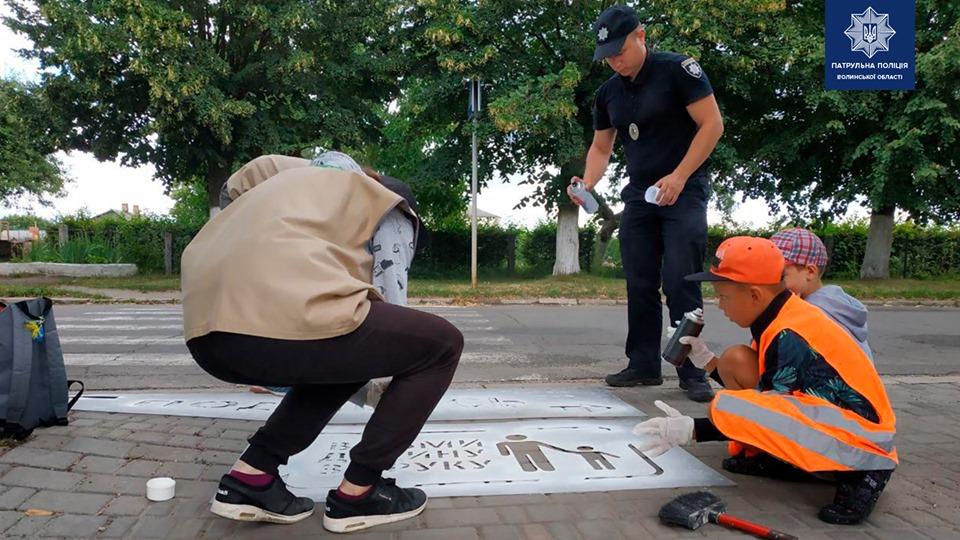 У Ківерцях патрульні закликають пішоходів бути уважними