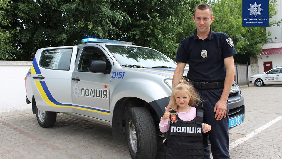 У Луцьку діти патрульних відвідали управління патрульної поліції Волинської області. ФОТО