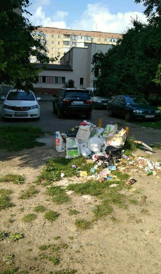 Через жителя Луцька утворилось стихійне сміттєзвалище
