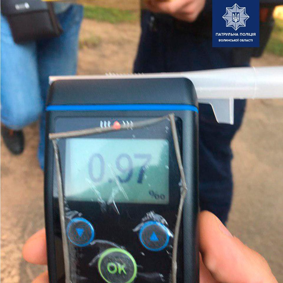 У Луцьку затримали вчергове п'яного водія, якого до цього позбавили водійських прав