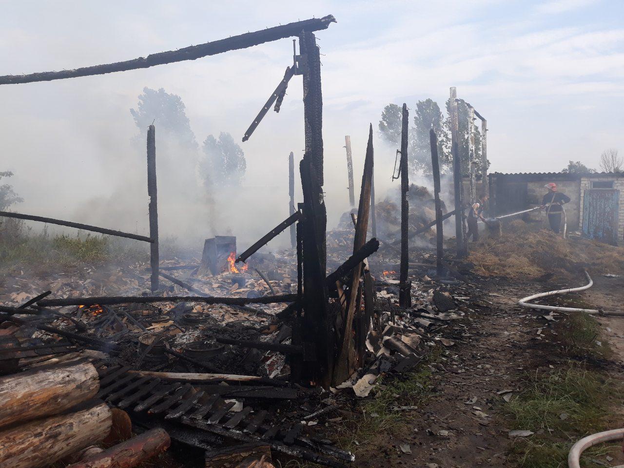 На Волині через гру дітей із сірниками сталася пожежа
