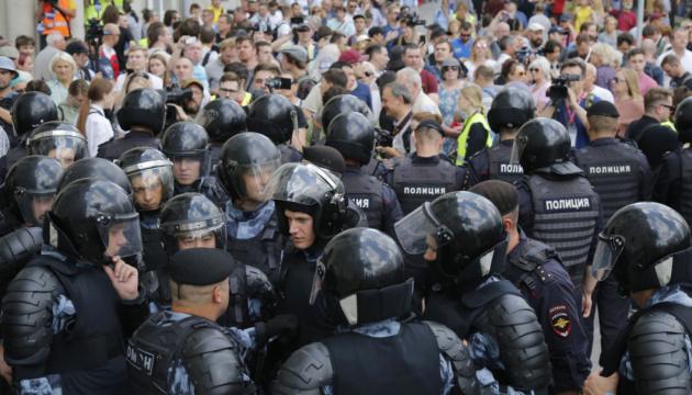 У Москві затримали майже 700 людей у зв'язку з мітингом за вільні вибори