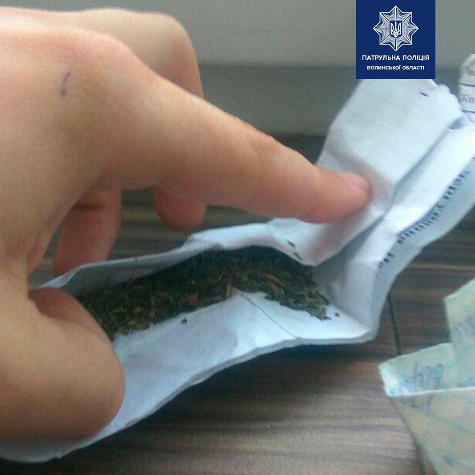 Поліцейські у Луцьку спіймали 19-річного хлопця з наркотиками