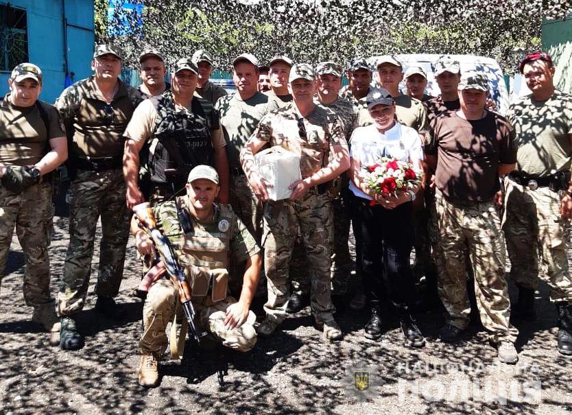 На сході України привітали правоохоронців з Волині із професійним святом