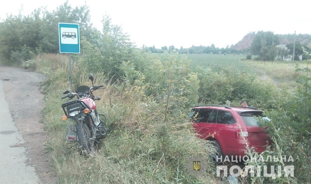 На Волині 65-річний мотоцикліст потрапив у ДТП