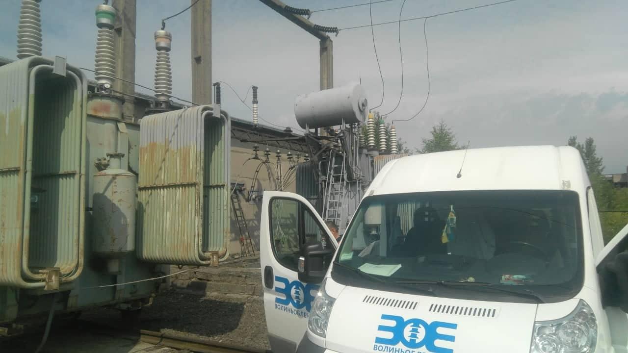 На електропідстанції у Луцьку ще тривають відновлювальні роботи