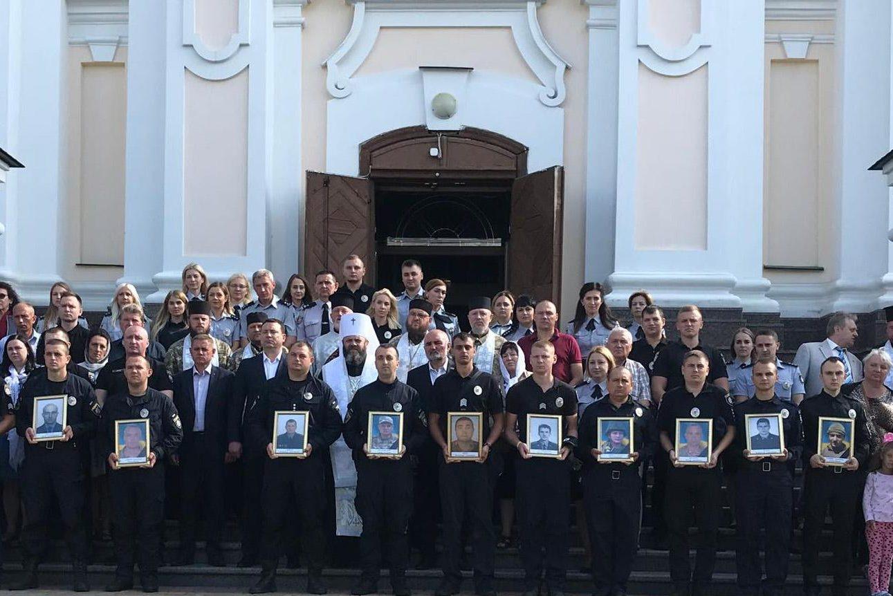 У Луцьку вшанували загиблих працівників органів внутрішніх справ