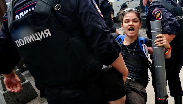 Особисті дані затриманих на протестах в Москві виклали в «Telegram»