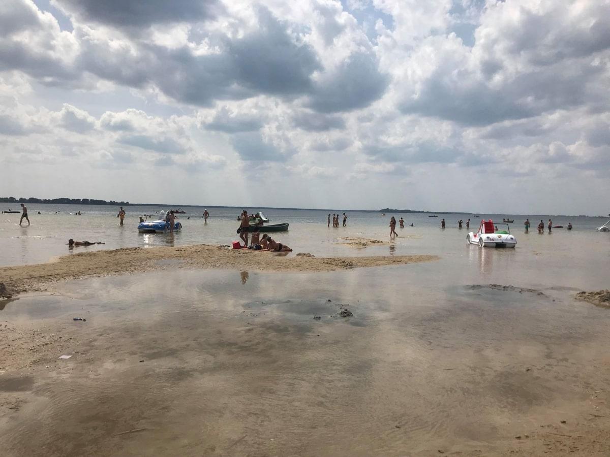 На озері Світязь небувало низький рівень води