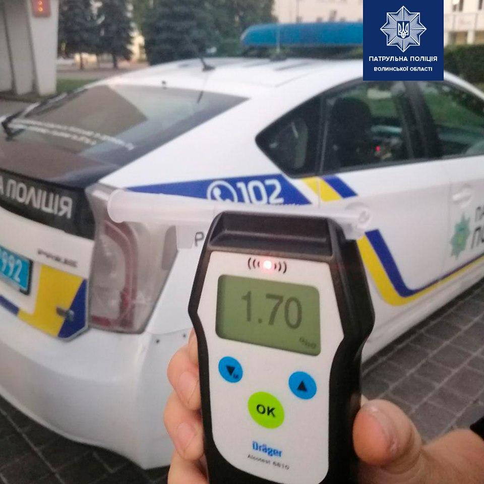 У Луцьку за кілька годин двічі затримали п'яного водія. ВІДЕО