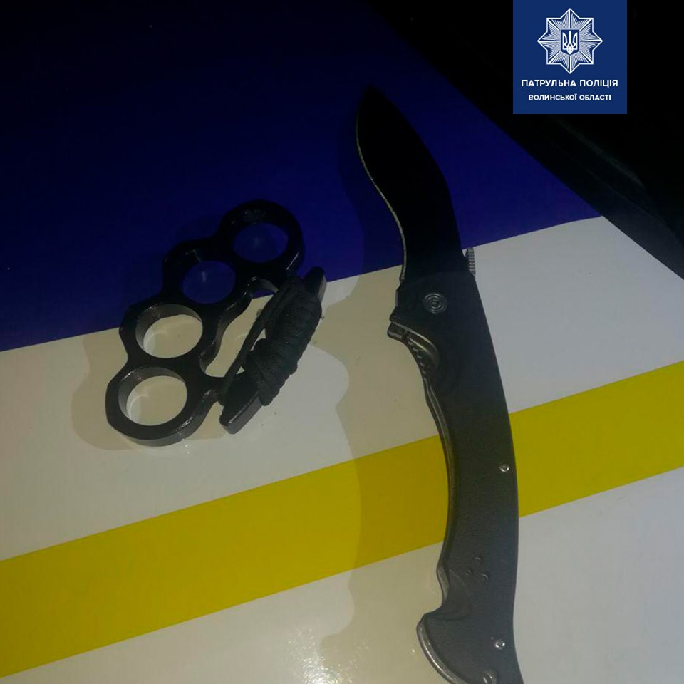 У Луцьку з кастетом та ножем затримали 19-річного хлопця