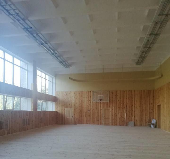 У луцький школі триває ремонт спортивного залу. ФОТО