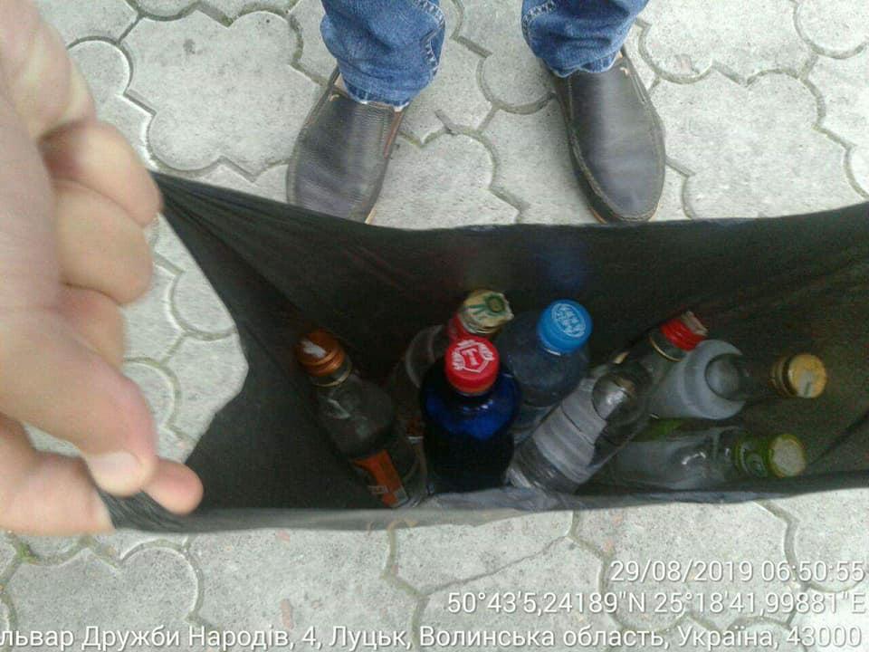 Муніципали знову виявили у Луцьку сурогатний алкоголь