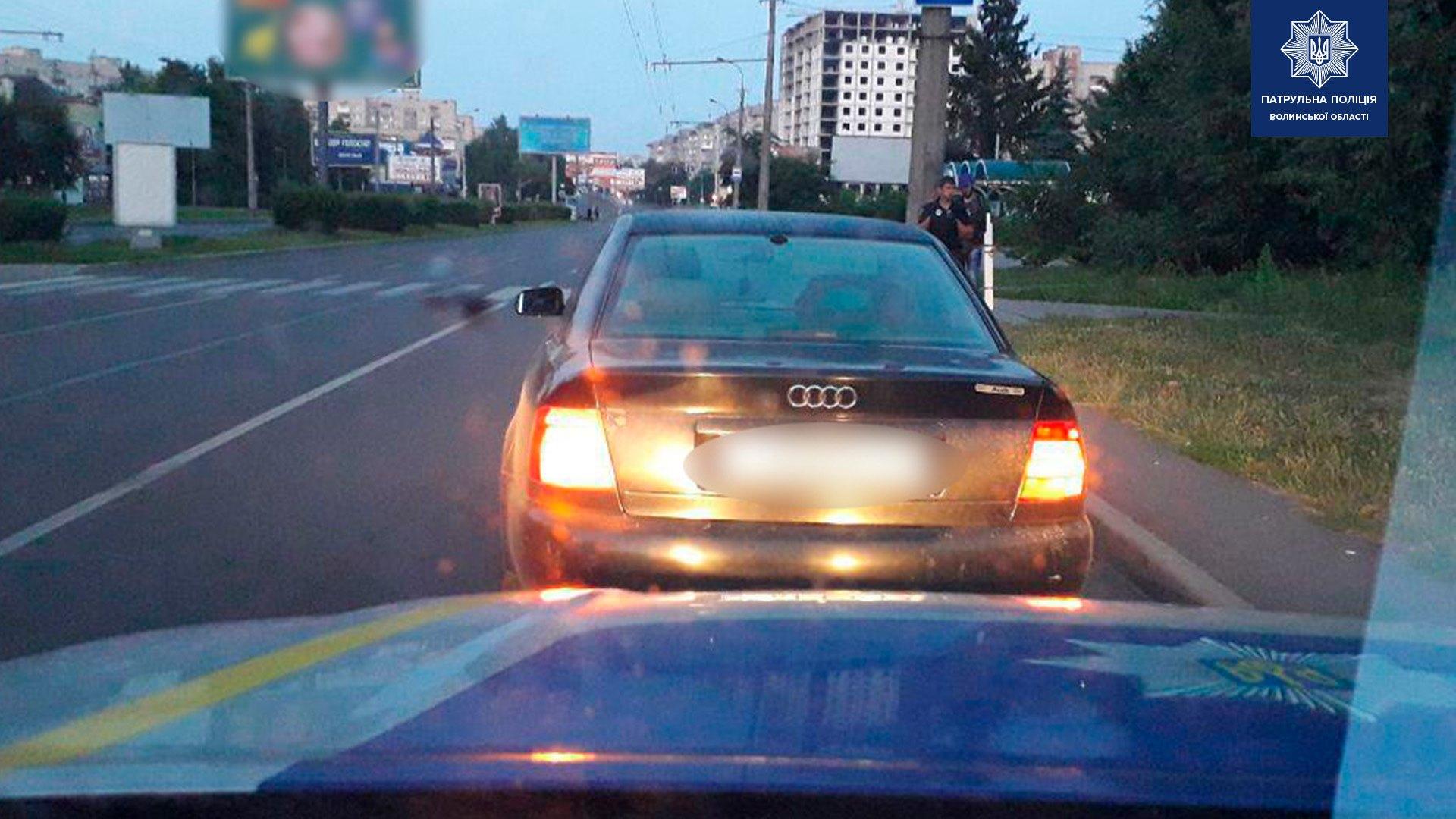 У Луцьку поліція затримала водія із забороненим речовинами