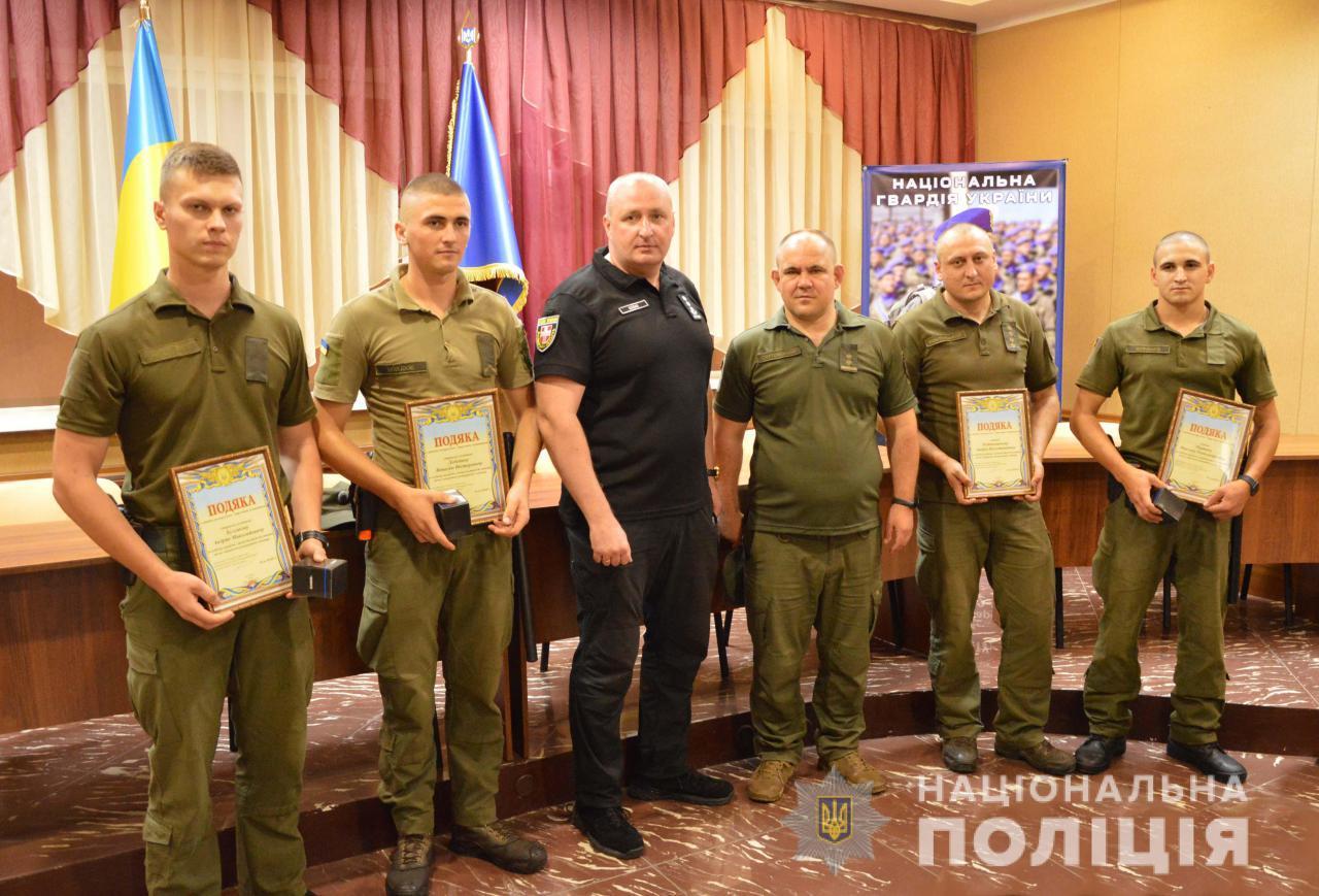 У Луцьку нагородили нацгвардійців, які зловили злочинця-втікача. ФОТО