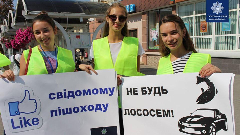 У Луцьку на вулицях громадян просили «не бути лососем»