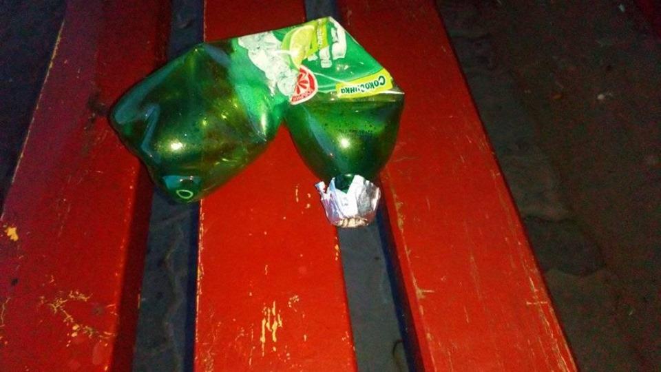 У Луцьку на зупинці люди виявили «бульбулятор». ФОТО