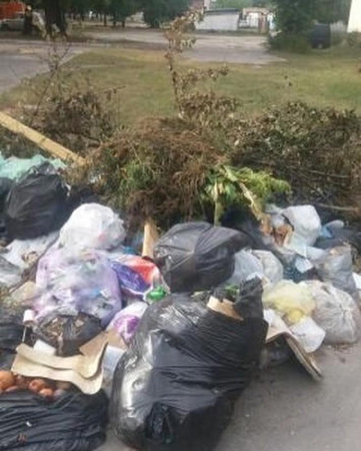 У волинському місті люди викидають сміття за будинок. ФОТО
