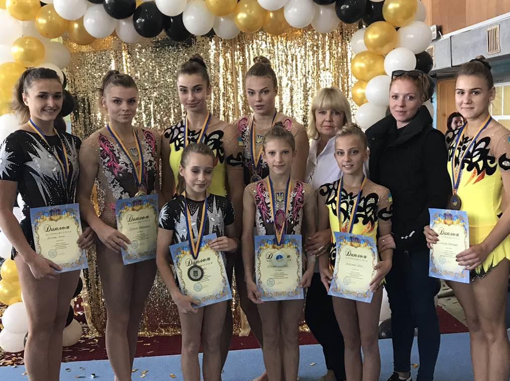 Волинянки вибороли медалі на Кубку України зі спортивної акробатики. ФОТО