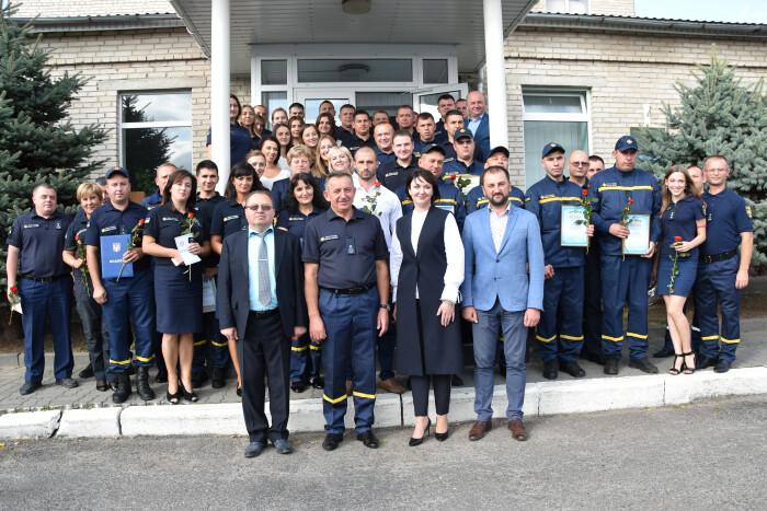 Волинських рятувальників привітали із професійним святом. ФОТО