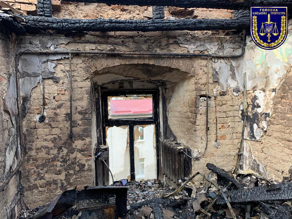 Прокуратура розслідує обставини виникнення пожежі у військовому госпіталі Луцька