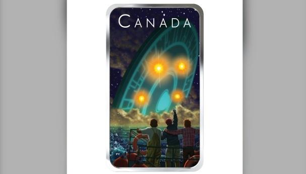 У Канаді прибульцям присвятили монету, яка світиться в темряві